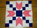 Quilt Blocks, 1880-1890, Whirligig -  QB