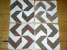 Quilt Blocks, 1860, Pinwheel -  QB