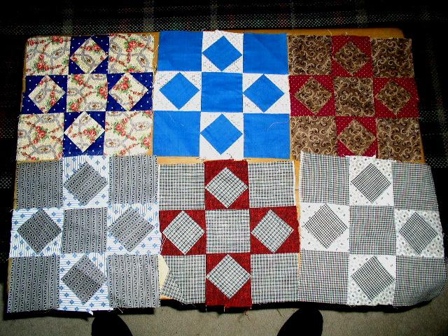 Quilt blocks, Square in a Square, 1900 -  QB