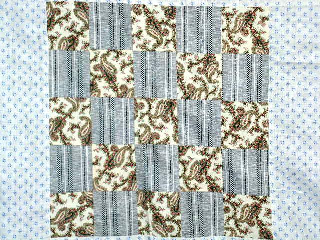 Quilt Top, 5x5 Patch, 1880's -  QTP