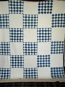 Blue and White Quilt - 25 patch -  QLT