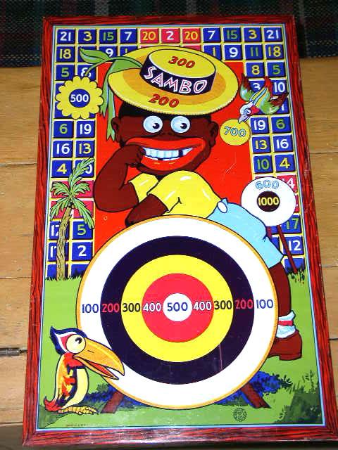 Little Black Sambo Tin Target