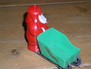 Christmas Plastic Santa Candy Container
