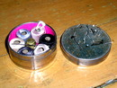 Metal Sewing Container and  Pincushion