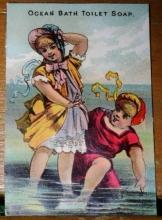 Ocean Bath Advertising Card