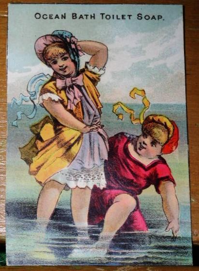 Ocean Bath Advertising Card