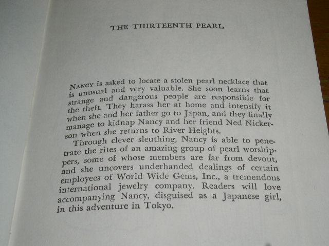Nancy Drew, Thirteenth Pearl, #56