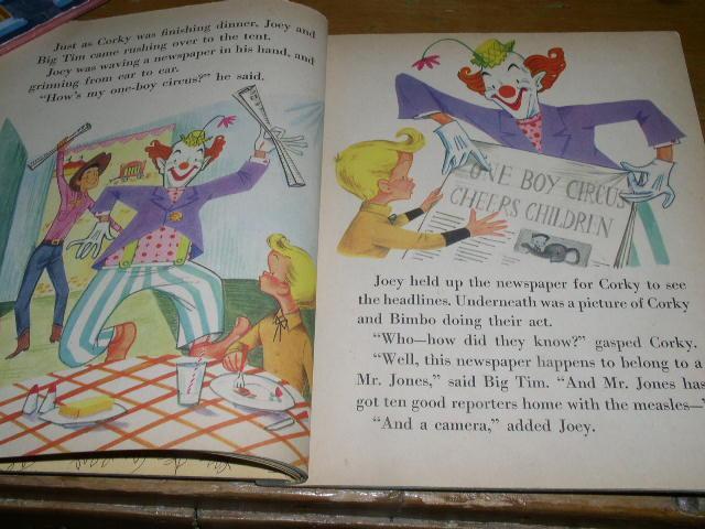 Circus Boy #290, Litt;le Golden Book, First Printing.