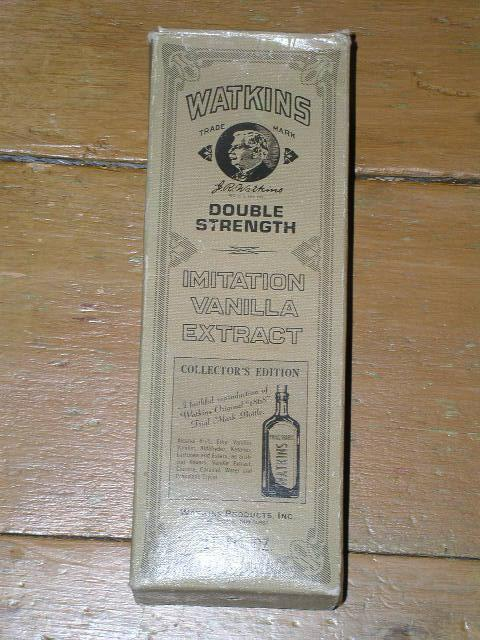 Watkins Vanilla Extract Bottle and Box