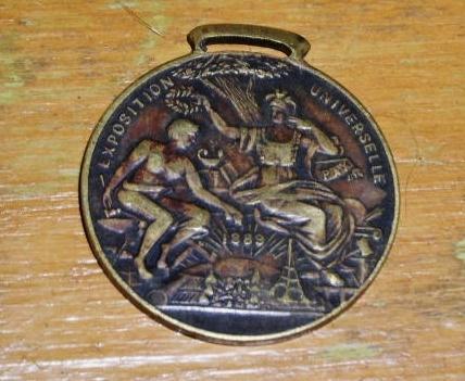 1889 Paris World's Fair Watch Fob