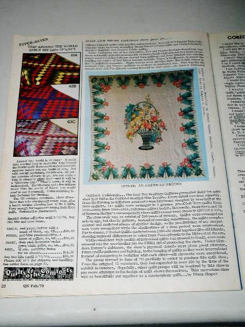Quilter's Newsletter Magazine #109,  - QM