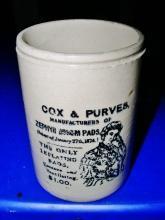 Cox & Purves, Zepher Busom Pads Jar