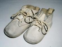 White Leather Baby Shoes