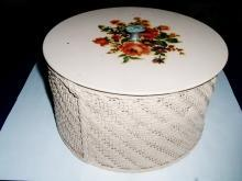 Wicker Sewing Basket with Cover