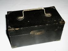 Black Sewing Box with Items
