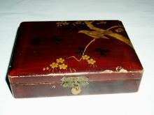 Oriental Lacquered Sewing or Jewelry Box