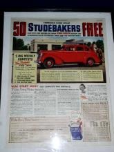 Studebaker Car Ad, 1938