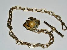 U.S. Marine Corps Watch Chain w/ Globe, Eagle, Anchor Pin