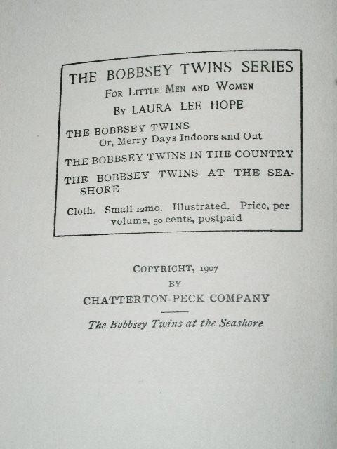 The Bobbsey Twins At The Seashore