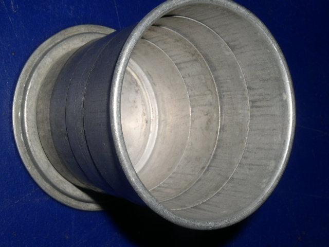 Tin Telescoping Cup with Cover