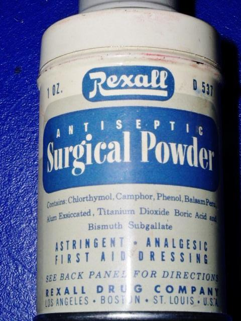 Rexall Surgical Powder Tin