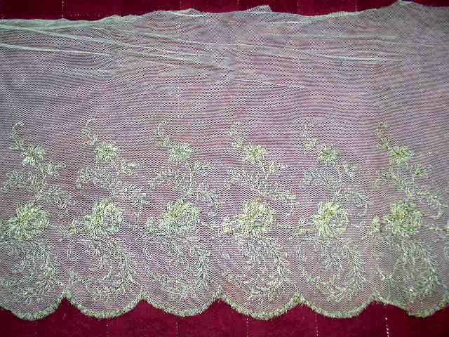 Metalic Embroidered Tulle Lace