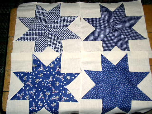 Eight Pointed Star Quilt Blocks -  QB