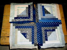 Log Cabin Quilt Blocks -  QB