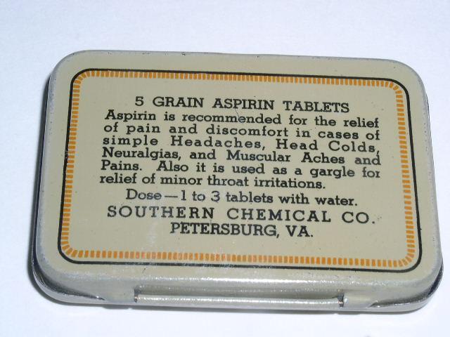 Spartan Aspirin Tin