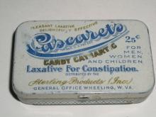 Cascarets Candy Cathartig Laxative Tin