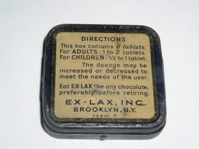 Ex-Lax Laxative Pocket Tin