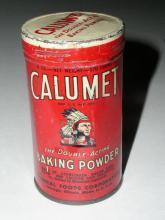 Calumet Baking Powder Tin, 6 oz.