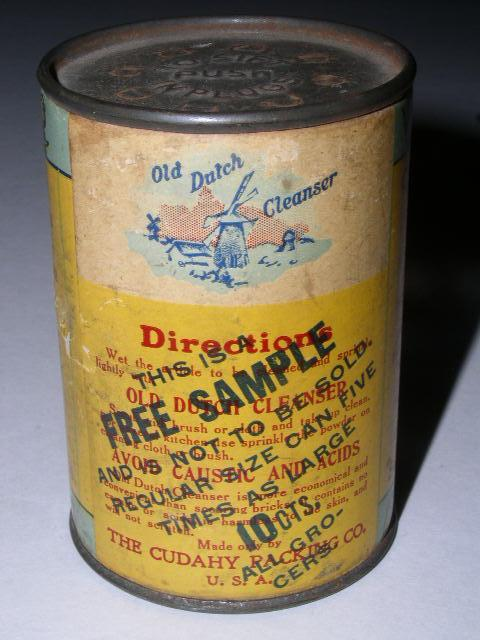 Old Dutch Cleanser Sample Container