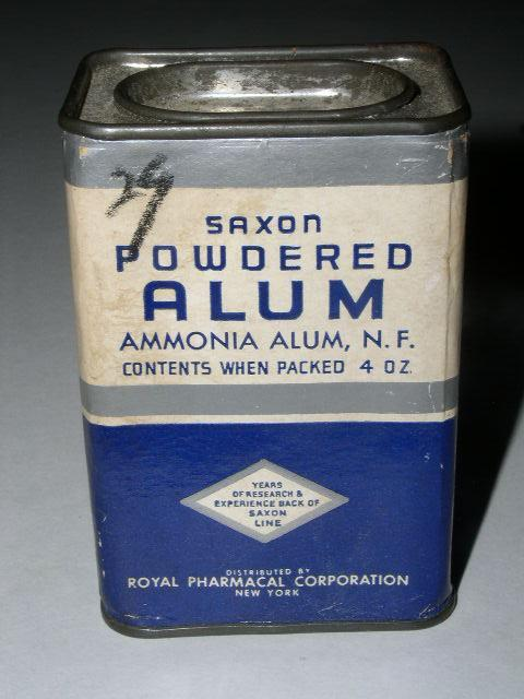 Saxon Powdered Alum Container