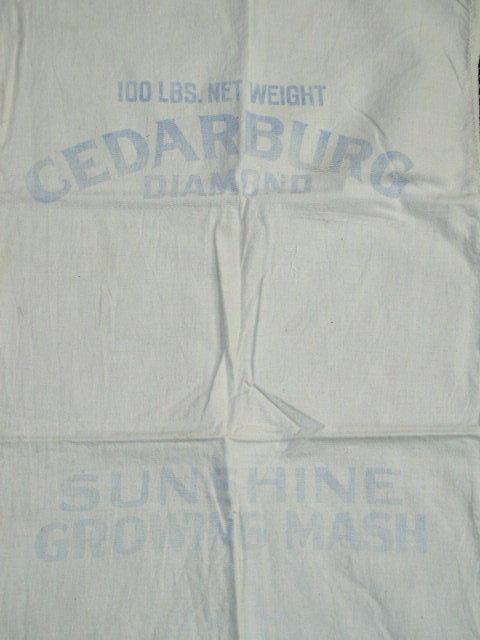Vintage Feedsacks, Muslin with some Printing  -  FSK