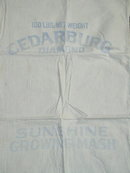 Vintage Feedsacks, Muslin with some Printing  -  FSK