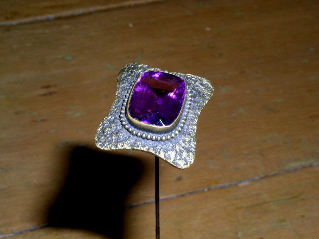 Hat Pin With Amethyst Stone