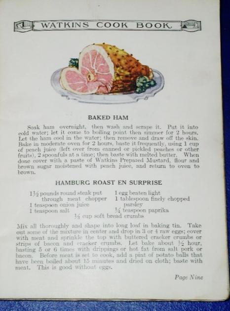 Watkins Cook Book, 1925,  -  CK