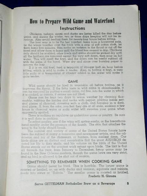 The Sportsman's Way, A. Gettlemen Brewing Co.  - CK