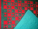 Ohio Star Quilt, Red and Green -  QLT
