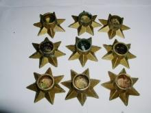 Metal Star Candle Holders from Denmark