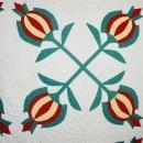 Pomegranate Appliqued Quilt  -   QLT