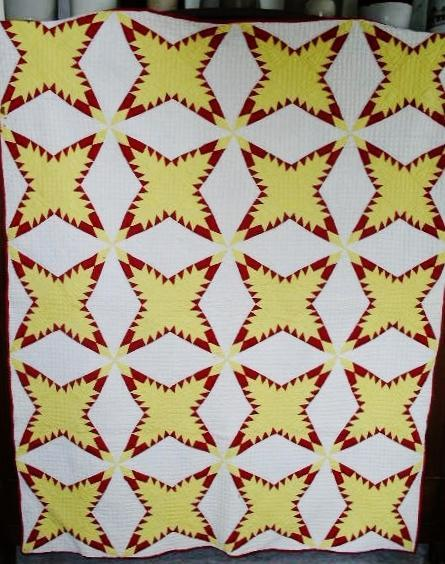 Feathered Four Pointed Star Quilt  -   QLT