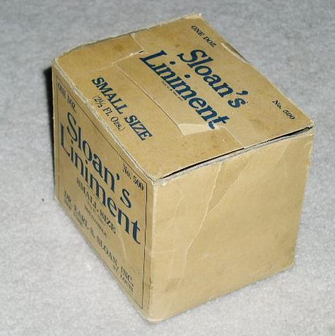 Sloan's Liniment Carton