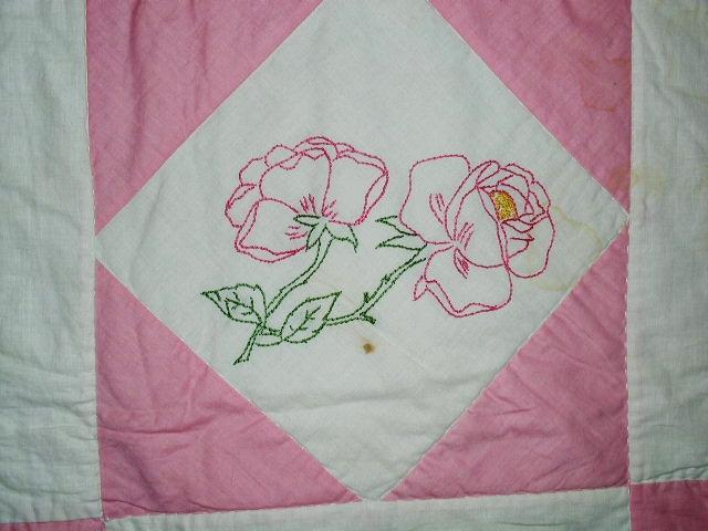 Embroidered Floral Quilt  -  QLT