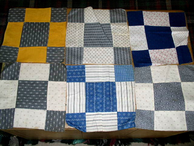 9 Patch Quilt Blocks, 1880's -  QB