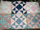 Eight Pointed Star or Sawtooth Quilt Blocks -  QB