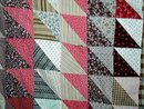 Triangles Quilt Top, 1860's -  QTP