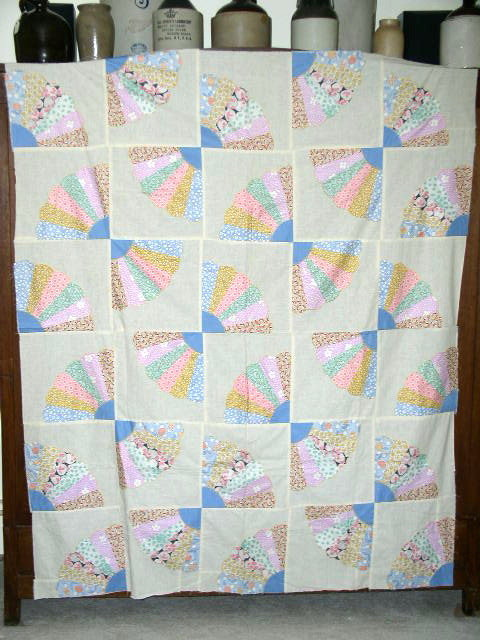 Grandmother's Fan Quilt Top -  QTP