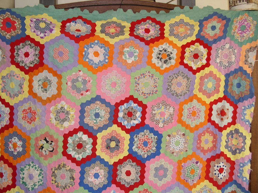 Grandmothers Flowers Quilt Top - QTP